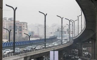 (تصاویر) وارونگی هوا در تهران
