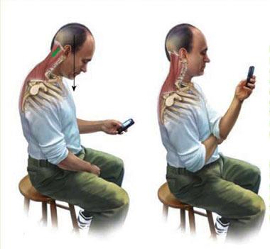 استفاده از گوشی تلفن همراه چه تاثیری بر روی ستون فقرات دارد؟