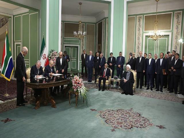 جمهوری اسلامی ایران و جمهوری آفریقای جنوبی هشت سند و یادداشت تفاهم امضا کردند