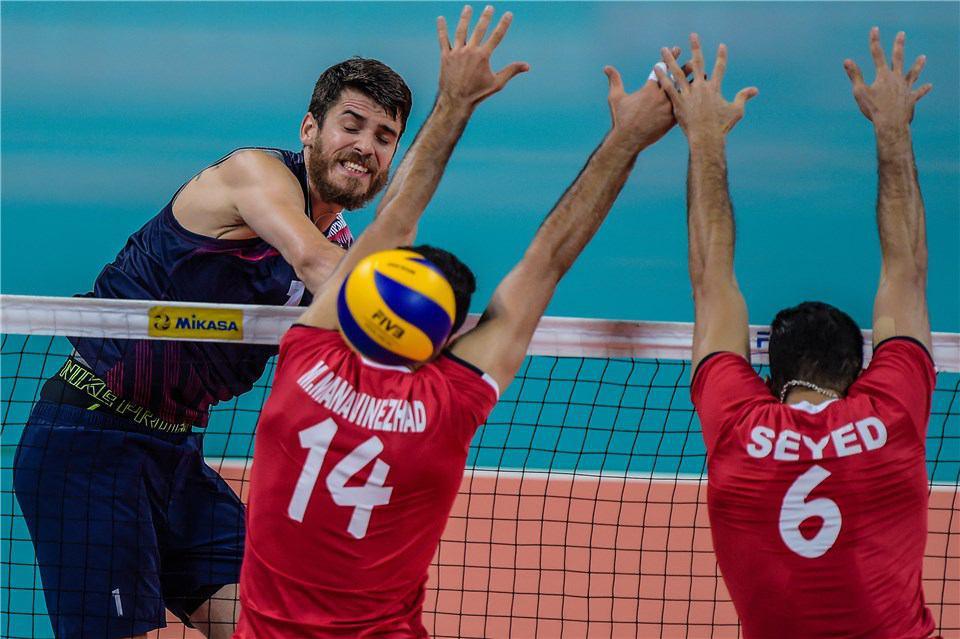 ایران یک – آمریکا 3 / والیبالیست های ایرانی حریف آمریکا نشدند