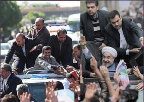 تفاوت سفرهای استانی احمدی نژاد و روحانی