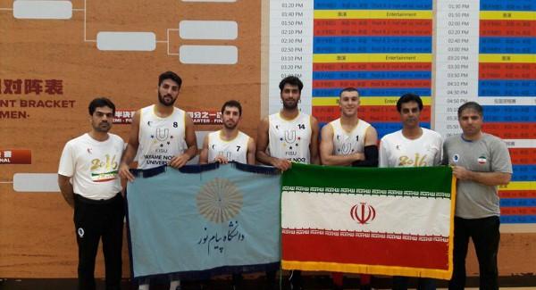 تیم بسکتبال دانشگاه پیام نور ایران با شکست آمریکا در جمع ۸ تیم برتر دنیا قرار گرفت (+تصاویر)