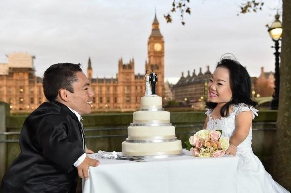 عکس/ ازدواج کوتاهترین زوج جهان