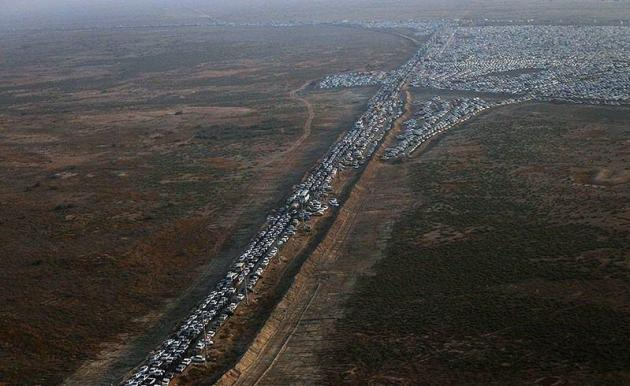 عکس/ تصویر هوایی از مرز چزابه