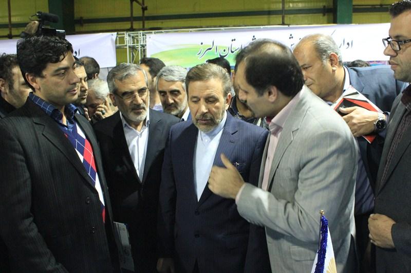 وزیر ارتباطات و فناوری اطلاعات از غرفه پیام نور البرز بازدید کرد