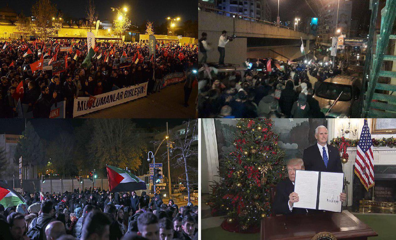 اعتراض گسترده جهانی به تصمیم ترامپ در اعلام قدس به عنوان پایتخت صهیونیست ها