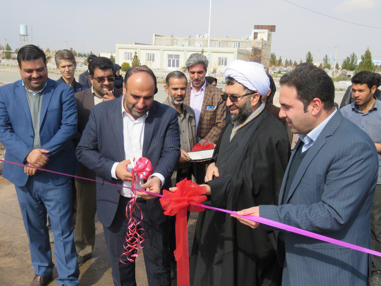 افتتاح چند طرح عمرانی در دانشگاه پیام نور رفسنجان