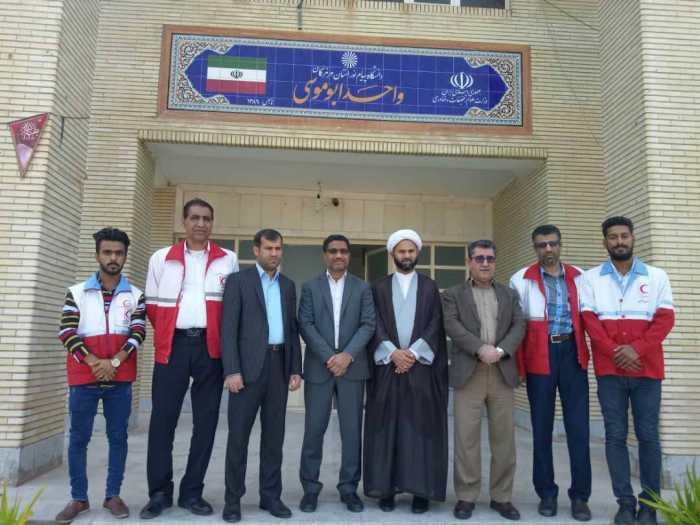 دفتر کانون هلال احمر دانشگاه پیام نور ابوموسی افتتاح شد