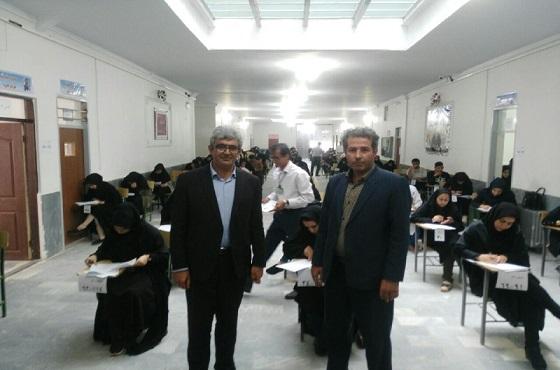 بازدید فرماندار هشترود از امتحانات پیام نور