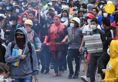 (تصاویر) بلایی که معترضان بر سر خانم شهردار آوردند