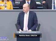 سکته نماینده مجلس آلمان در هنگام سخنرانی