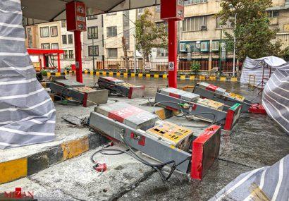 تصاویری از اعتراضات مردمی به افزایش قیمت بنزین