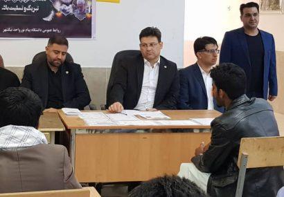 بازدید مسئولان دانشگاه پیام نور از مناطق سیل زده استان سیستان و بلوچستان