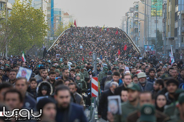 تصاویر آئین تشییع حاج قاسم سلیمانی در تهران