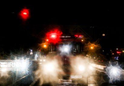ضد عفونی منطقه صادقیه توسط آتش نشانی