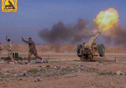 حشدشعبی پایگاه داعش در صلاح الدین را منهدم کرد