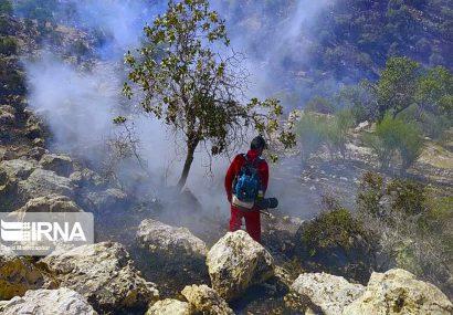 آتش سوزی کوه خاییز