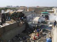 فیلم  از لحظه سقوط هواپیمای پاکستانی در کراچی