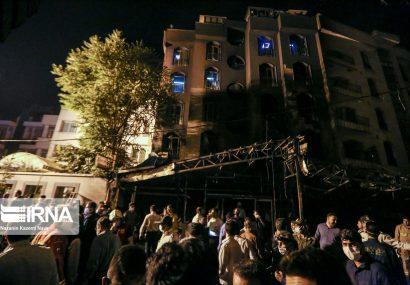 آتش سوزی و انفجار در کلینیک درمانی سینا